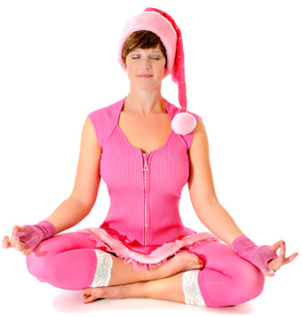 holiday stress relief-meditating