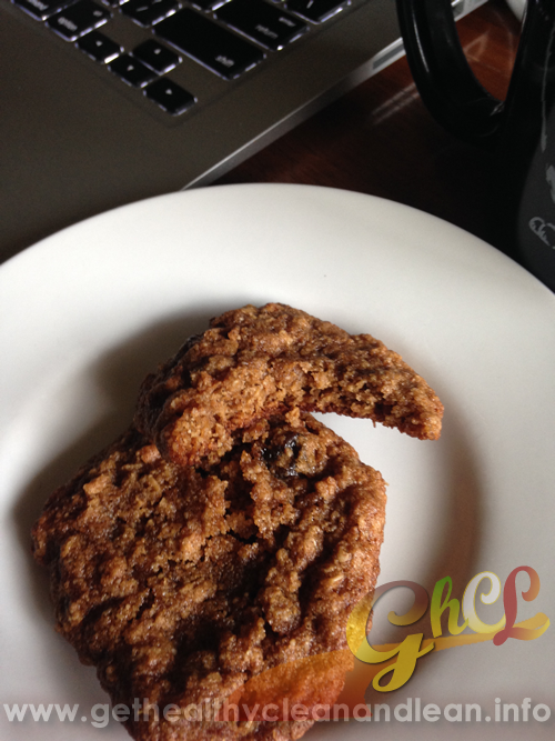 flourless oatmeal raisin cookies with blanched almond flour