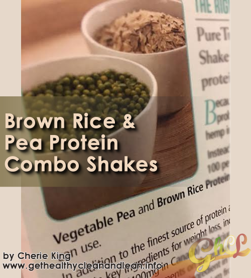 Brown Rice And Pea Protein Combo Shakes